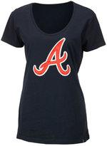 '47 Women's Atlanta Braves Satin Scoop T-Shirt