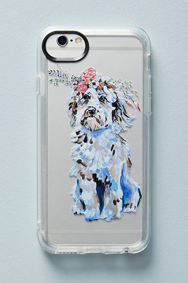 Casetify Dog in Bloom iPhone Case By in Pink Size S