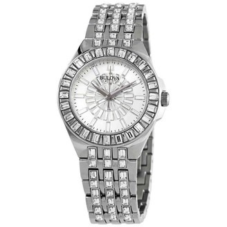 Bulova Women's 96L278 'Phantom' Stainless Steel with Sets of Crystal Watch - Silver
