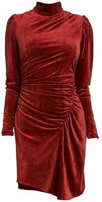 A.L.C. Marcel Draped Velvet Dress