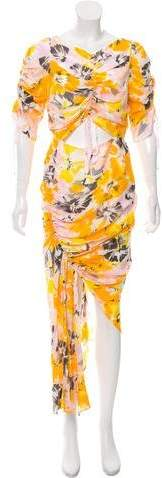 Alice McCall Ruched Printed Dress w/ Tags