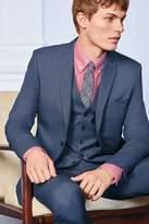 Mens Next Blue Stretch Marl Suit: Waistcoat