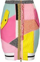Moschino Cotton-blend bouclé mini skirt