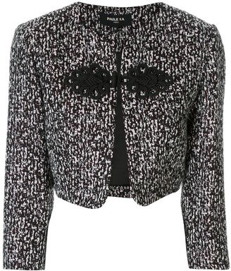Paule Ka frog-fastener cropped jacket