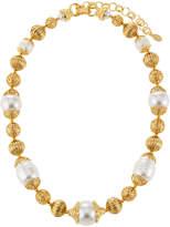 Jose & Maria Barrera Single-Strand Filigree Faux Pearl Necklace
