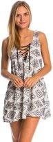 Lucy-Love Lucy Love Black Diamond Beach Lace Me Up Shift Dress 8144483