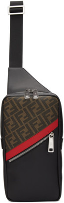 Fendi Black and Red Forever Messenger Bag