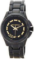 Karl Lagerfeld Women's Faceted Bezel Bracelet Watch