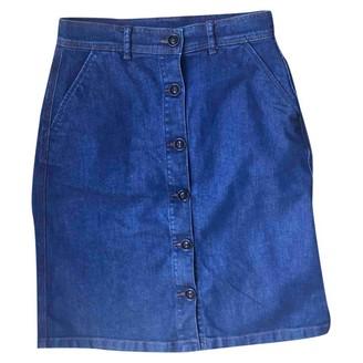 soeur Blue Cotton Skirt for Women