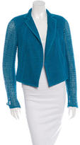 Akris Open Knit Notch Lapel Blazer