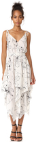 Diane von Furstenberg Sleeveless New Scarf Hem Midi Dress