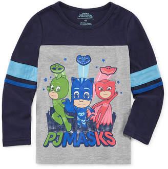 PJ MASKS Boys Crew Neck Long Sleeve PJ Masks Graphic T-Shirt-Toddler