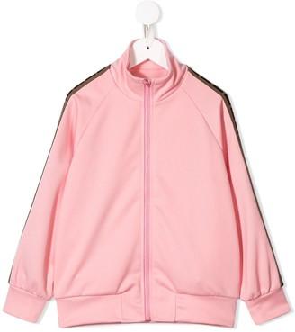 Fendi Side Panelled Zipped Sweatshirt