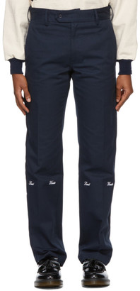 Saintwoods Navy Twill Trousers