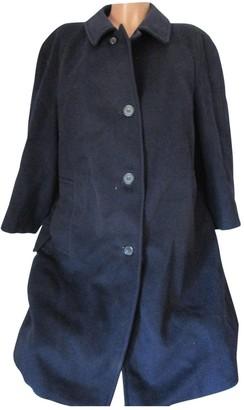 Aquascutum London Blue Wool Coat for Women Vintage