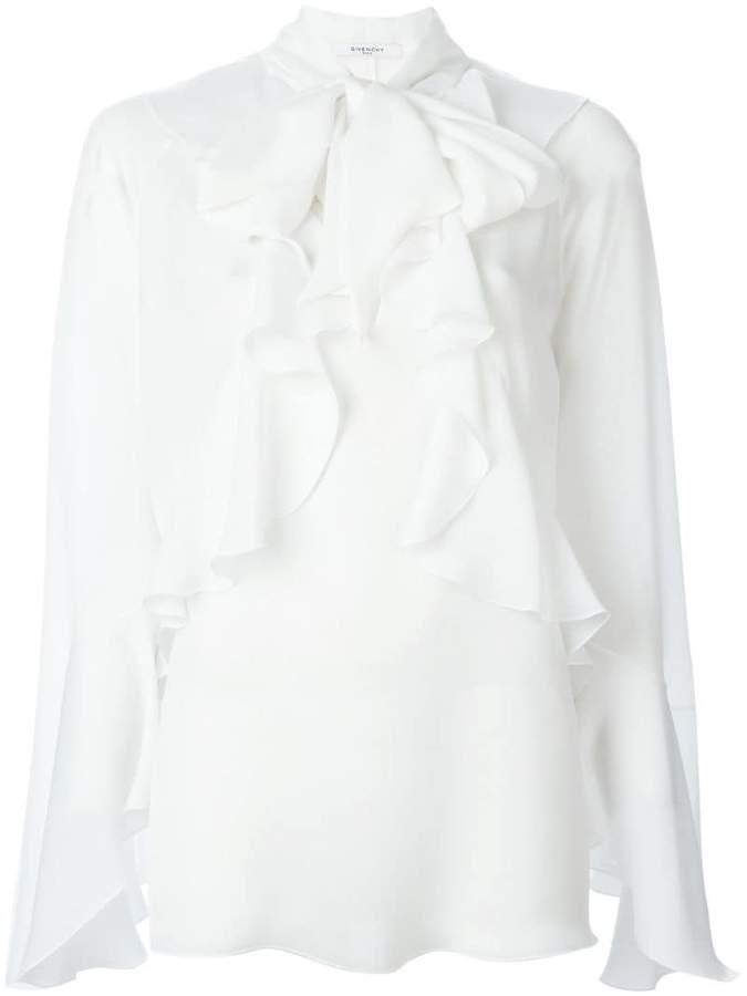 Givenchy ruffled placket blouse