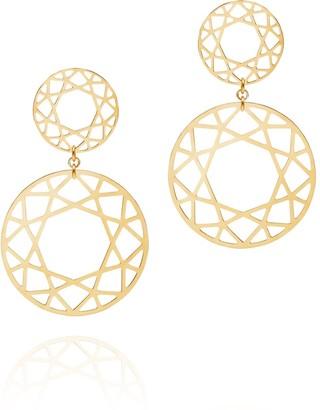 Myia Bonner Gold Double Drop Brilliant Diamond Earrings
