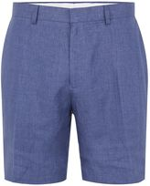 Topman Blue Linen Smart Shorts