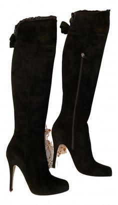 Valentino Black Suede Boots