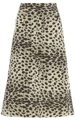 Sea Leo Leopard-print Cotton Skirt - Womens - Leopard