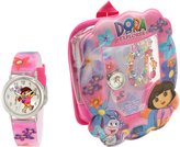 Nickelodeon Kids' DTE1080B Dora gift backpack set Watch