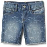 Gap Stretch shark denim shorts