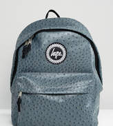 Hype Exclusive Charcoal Gray Faux Ostrich Backpack