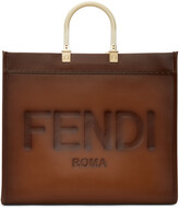 Thumbnail for your product : Fendi Brown Large Sunshine Tote