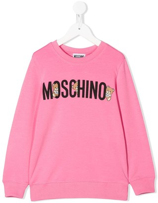 Moschino Kids long sleeve logo sweater