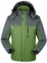 Sawadikaa Men's Outdoor Waterproof Mountain Fleece Ski Jacket Raincoat