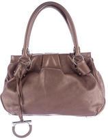 Salvatore Ferragamo Gathered Leather Handle Bag