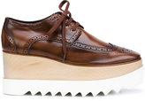 Stella McCartney Elyse platform brogues - women - Artificial Leather/wood/rubber - 35.5