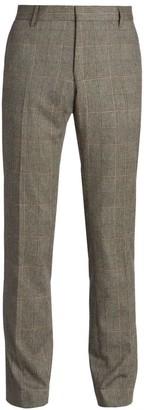 Dries Van Noten Patrini Prince Of Wale Check Wool-Blend Trousers