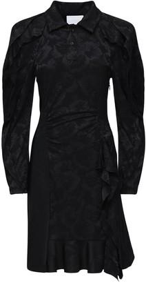 Koché Stretch Jacquard Mini Dress