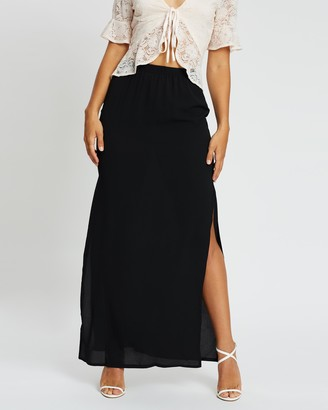 Missguided Crepe Split Maxi Skirt