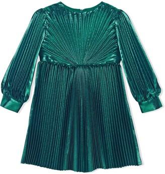 Gucci Kids Silk Lame Dress