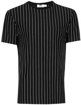 Topman Black and White Vertical Stripe T-Shirt