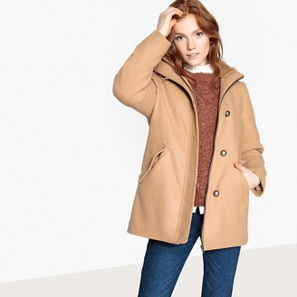 La Redoute Collections Coat with Faux Fur Collar