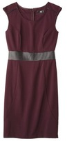 Mossimo Womens Faux Leather Ponte Sleeveless Dress - Assorted Colors