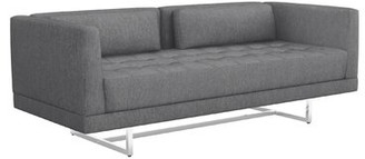 """Interlude Luca 75"""" Square Arm Loveseat Upholstery Color: Night"""