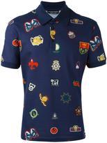 Alexander McQueen badge print polo shirt