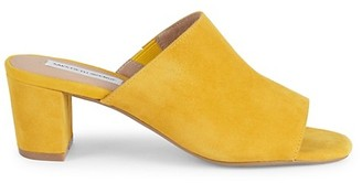 Saks Fifth Avenue Mary Suede Block Heel Mule Sandals