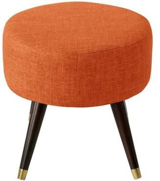 Bronx Ivy Castilla Oval Ottoman Ivy Upholstery Color: Zuma Atomic