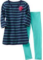 Old Navy Girls Tulle-Flower Tunic & Leggings Sets