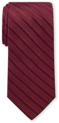 Michael Kors Red Accent Stripe Silk Tie