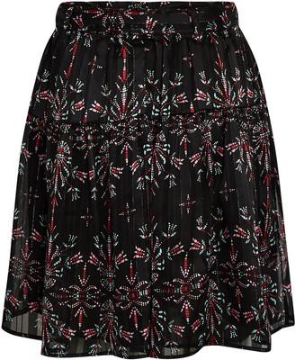 Sabina Musayev Jezebel Printed Mini Skirt
