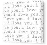 Avalisa Stretched Canvas Nursery Wall Art, I Love You