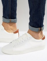Fred Perry Spencer Knit/Leather Sneakers