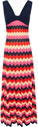 M Missoni Ribbed Cotton And Intarsia-knit Maxi Dress