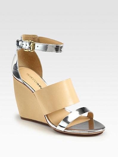 Rebecca Minkoff Stella Leather Wedge Sandals